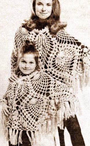 Pineapple Stitch Adult & Child's Poncho Crochet Pattern (English Edition)