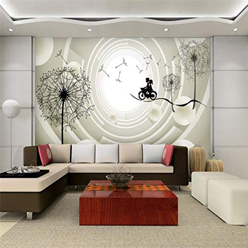 RTYUIHN 3D Wallpaper Warm Dandelion Abstract Vision 3D Mural Living Room Living Room Decoration Painting Modern Wall Art Decoration