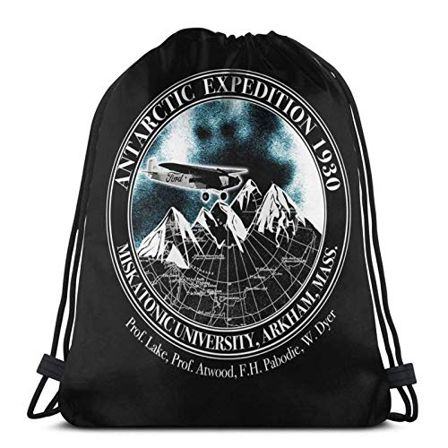 Hdadwy Miskatonic University Antarctic Expedition Inspired by at The Mountains of Madness Sport Bag Gym Sack Drawstring Backpack for Gym Shopping