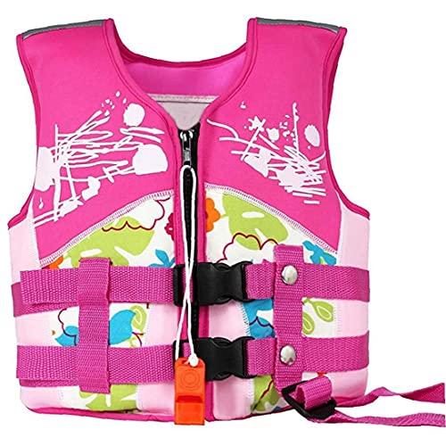 Liadance Niños Nadar Flotador Chaleco De Flotabilidad Niños Chaleco Salvavidas De Flotabilidad Deriva Rosa del Traje De Baño para Chicos, Chicas Piscina Aprendizaje S Tamaño