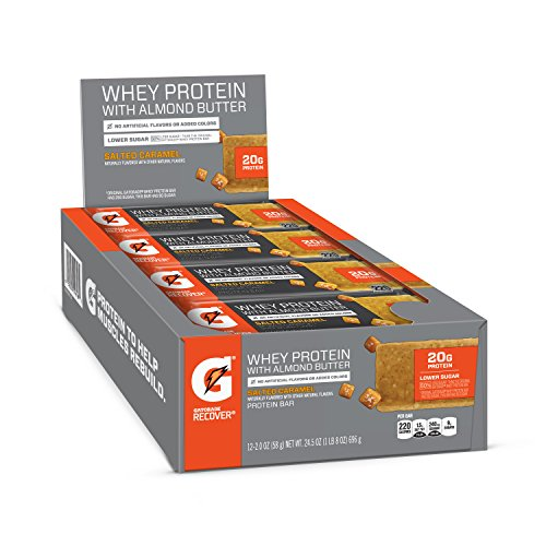 Gatorade Whey Protein With Almond Butter Bars, Salted Caramel, 12 Count $1.48