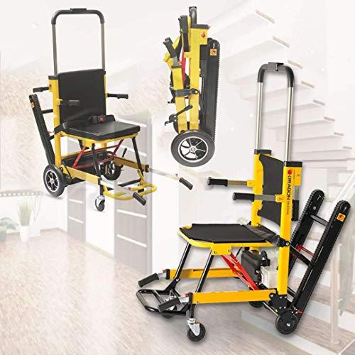 Ältere Menschen mit Behinderungen Rollstühle mit Eigenantrieb Leicht Zusammenklappbar Kompakter Elektrorollstuhl Mobiler Zusätzlicher Treppensteiger Einstellbare Armlehne für Ältere Menschen auf und