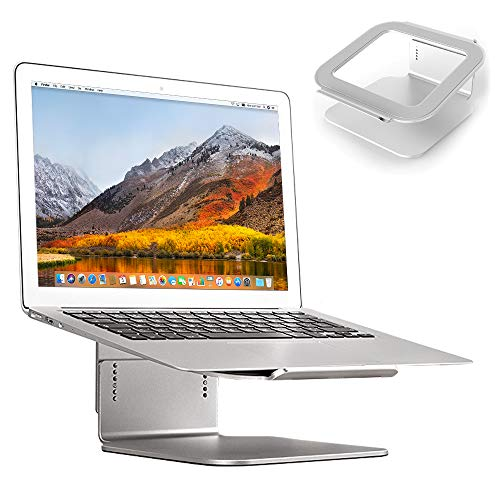 Desire2 Laptop Computer Riser Desk Stand - Six level Adjustable Elevator Riser Desk Stand For Macbooks, Notebooks and Laptops - Aluminium Alloy Silver