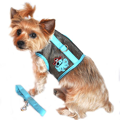 Doggie Design Cool Mesh Harness Under the Sea Collection - Octopus Pirate Blue & Black S