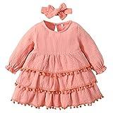 Vestidos de Manga Larga para bebés y niñas pequeñas Otoño Infantil MCX49-02_04Y