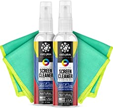 Calyptus Screen Cleaner Mobile Kit | Streak Free Spray + Pixel Shining Cloths | Plant Based Power | USA Made | iPad, iPhone, Smart Phone, Tablet Cleaning, 8 Ounces