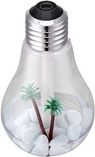 Manyao 400ml電球加湿器キットマイクロランドスケープナイトライトアロマディフューザー (シルバー)