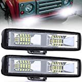 LEDワークライト 20W 作業灯 スポットランプ LED 防水・防塵・長寿命・防振・耐衝撃 汎用 車外灯 農業機械 現場作業 船舶 倉庫作業 照明 12V 24V兼用 スポットライト ホワイト 2個入り