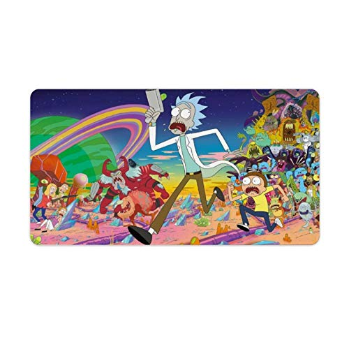 Funny Rick and Morty Anime Mouse Pad No-Slip Durable Gaming Mouse Mat Base for Office Computer Laptop