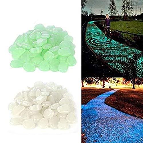 Lot de 200 pierres lumineuses pour éclairage de nuit, galets lumineux,Pierre artificielle extérieure pour Decor, jardin, aquarium, réservoir de poissons 2 couleurs