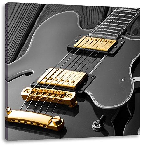 elegant elektrische gitaarCanvas Foto Plein   Maat: 40x40 cm   Wanddecoraties   Kunstdruk   Volledig gemonteerd