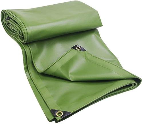 MSF Baches Bache de PVC imperméable de 100%, Couverture Tente résistantes de Bateau de Voiture de Toit de Camping extérieur, 600g   m2, épaisseur 0.6mm, Vert (Taille   3x4m)