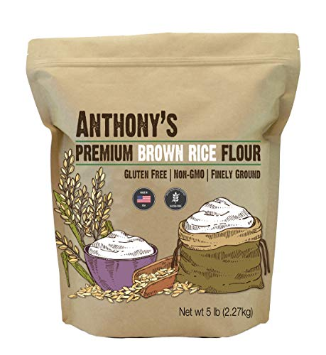 Anthony's Brown Rice Flour, 5 lb, Batch Tested and Verified Gluten Free, Product of USA