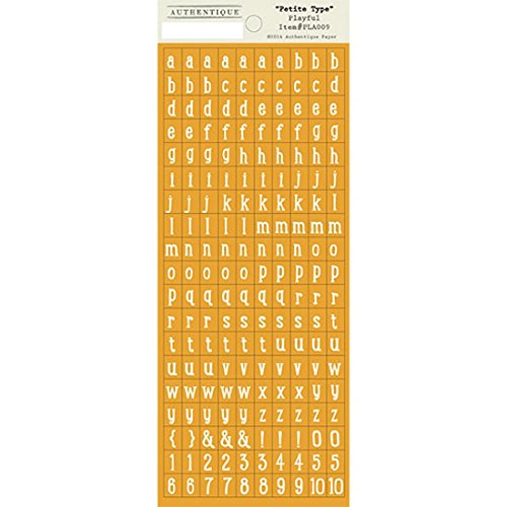 Authentique Paper Playful Cardstock Stickers, 3.5 x 6-Inch, Petite Type Mini Alphabet