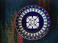 飾り皿 ARABIA FINLAND 北欧皿 1998年 Snow Crystal desig:Tove Slotte-Elevant
