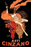 Leonetto Cappiello Asti Cinzano Art Deco Liquor Vintage French Wall Art Nouveau 1920 Booze Poster Print French Advertising Stretched Canvas Art Wall Decor 16x24