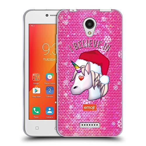 Head Case Designs Oficial Emoji Unicornio Navidad Carcasa de Gel de Silicona Compatible con Lenovo A Plus