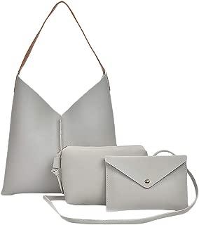 Docooler Women Handbag Set PU Leather Casual Tote Bag Crossbody Shoulder Bag Solid Composite Bag Set
