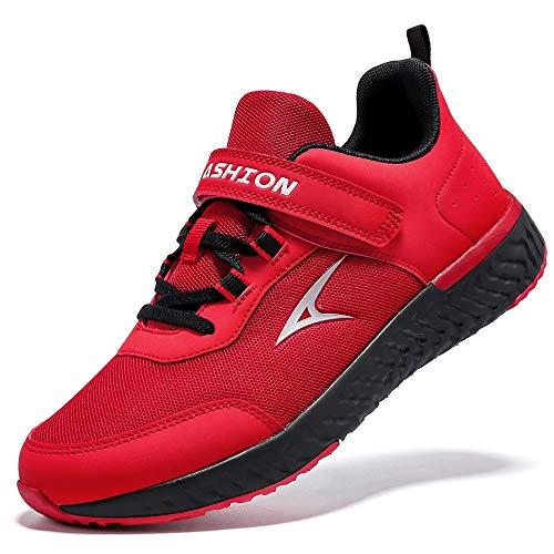 Zapatillas de Deporte para de Las Muchachas Aire Zapatos para niño Casual Unisex Niños(R Rojo,34 EU)