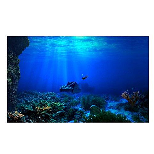 Seaworld Poster, 3D Effektkleber für Aquarium Dekoration(122 * 61cm)