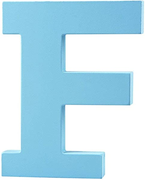 Wooden Hanging Wall Letters F Blue Decorative Wall Letter For Children S Nursery Baby S Room Baby Name And Girls Bedroom D Cor