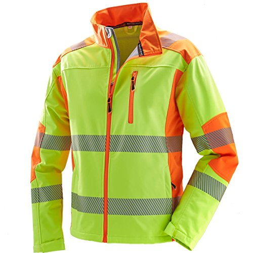 Terrax Kinder Warnschutz Softshelljacke Signalfarben | Jungen | Mädchen | Reflektierende Details | Wasserabweisend | Atmungsaktiv | Winddicht | EN ISO 1150 EN ISO 13688 Top Qualität (176)
