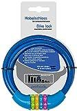 probock Candado de bicicleta para niños con código numérico y cable de candado para bicicleta infantil, tamaño 10 x 650 mm, edición 2021 (azul)