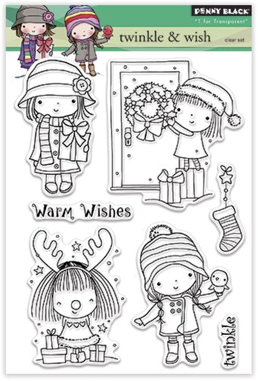 Penny Black 30-313 Twinkle & Wish Transparent Decorative Rubber Stamp Set
