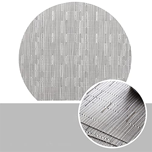 JKLJKL Cocina de bambú de PVC semicirculares nórdicas Placemat para Mesa de Comedor Bebidas Posavasas Mantel Mantel Copa Individual Vajilla (Color : PVC Bamboo 06, Size : About 35cm x 31cm)
