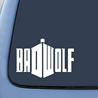 Badwolf Doctor Who Sticker Decal Notebook Car Laptop | White | 7 In | KCD214