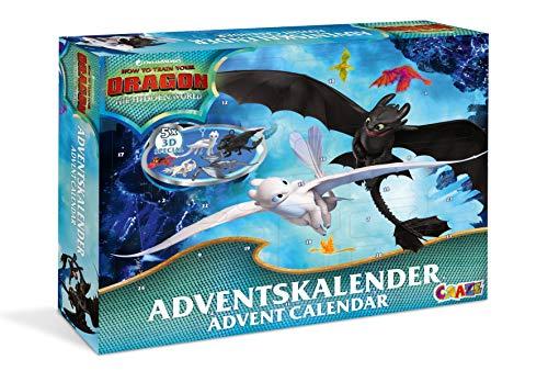 CRAZE Adventskalender Dragons 3 Drachenzähmen 2019 Weihnachtskalender für Jungen Spielzeug Kalender tolle Inhalte 19573