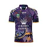 FWHACMT 2019 Maillot Coupe du Monde de Rugby Melbourne Maillot De Rugby T-Shirt De L'équipe Maillot Polo de Football Maillot De Match,Violet,XXXL