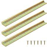 YUE QIN 3 Piezas 300 * 35 * 6mm DIN Carril Metal Ranurado de Montaje DIN Carril para Instalar Interruptores de Potencia, Protectores