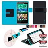 Hülle für HTC Desire 816 Dual Tasche Cover Hülle Bumper   Schwarz   Testsieger