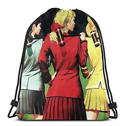 N / A Heathers Musical, mochila ligera para hombre y mujer, bolsa de almacenamiento, mochila con cordón, bolsa de tirón de cuerda, bolsas de regalo de fiesta, bolsa de cordón de dibujo, bolsa de yoga