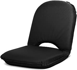 Artiss Stadium Seat Portable Reclining Bleacher Camping Beach Seat Outdoor Folding Floor Chair Black