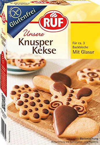 RUF Glutenfreie Knusper Kekse mit Glasur für 3 Backbleche, 8er Pack (8 x 475 g)
