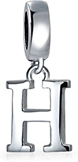 Personalized Gift Dangle Block Letter A-Z Alphabet Initial Charm Bead For Women For Teen Solid .925 Sterling Silver Fits E...