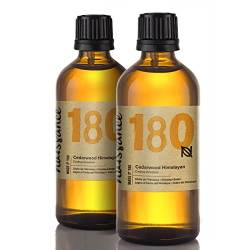 Naissance Cedarwood (Himalayan) Essential Oil 200ml (2x100ml) - Pure,...
