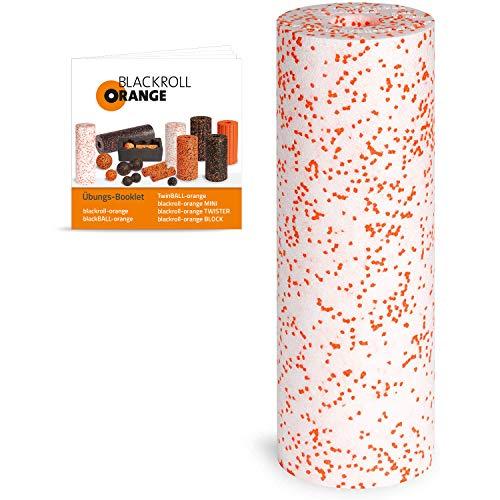 Blackroll Orange Med Faszienrolle - Faszien Massagerolle 45cm (weiß) für Faszientraining mit Anleitung