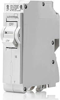 Leviton LB115-T 15 Amp, 1-Pole Plug-on Standard Branch Circuit Breaker, 120/240 VAC, White