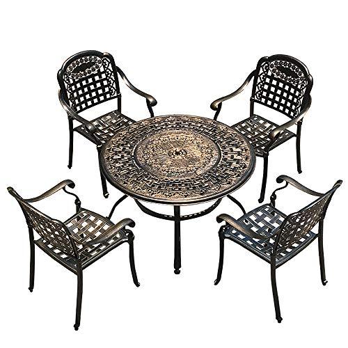 FJPAIPP BBQ Party 4 + 1Patio Mesa y sillas, sillas de Mesa Juego de Mesa de Comedor para Picnic Portátil Camping Comedor Jardín