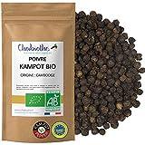 Chabiothé - Poivre de Kampot BIO 100g - grains entiers IGP - conditionné en France - sachet biodégradable