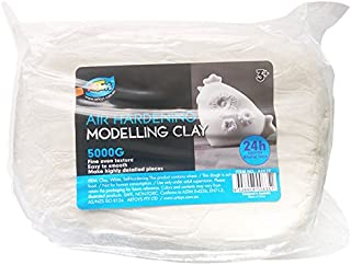 Artoys Air Dry Clay,Modelling clay, White 5KG,Sculpting,Moulding,Preshool toys,Pretend play,school craft supplies