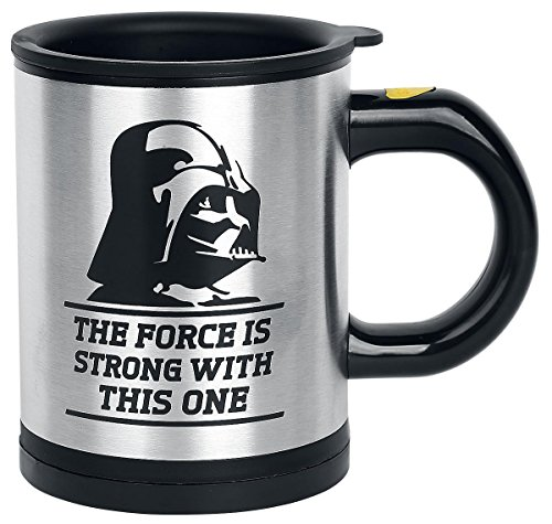 Darth Vader self stirring coffee mug