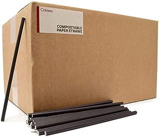 "Paper Straws Bulk - Paper Straws Wholesale - Cheap Paper Straws - Short Paper Straws 5.75"" - Paper Bar Straws - Black Paper Straws (2500, 5.75)"