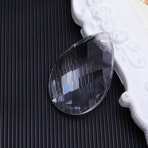 Mobestech 2ST Kronleuchter Prisma Moderne Kronleuchter klar Teardrop Kristallkugel Prisma Anhänger Perlen Anhänger Beleuchtung Zubehör oval Tropfen Kristall