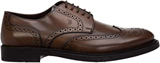 Men's Derby Oxfords Brown Leather Lace Up Wingtip