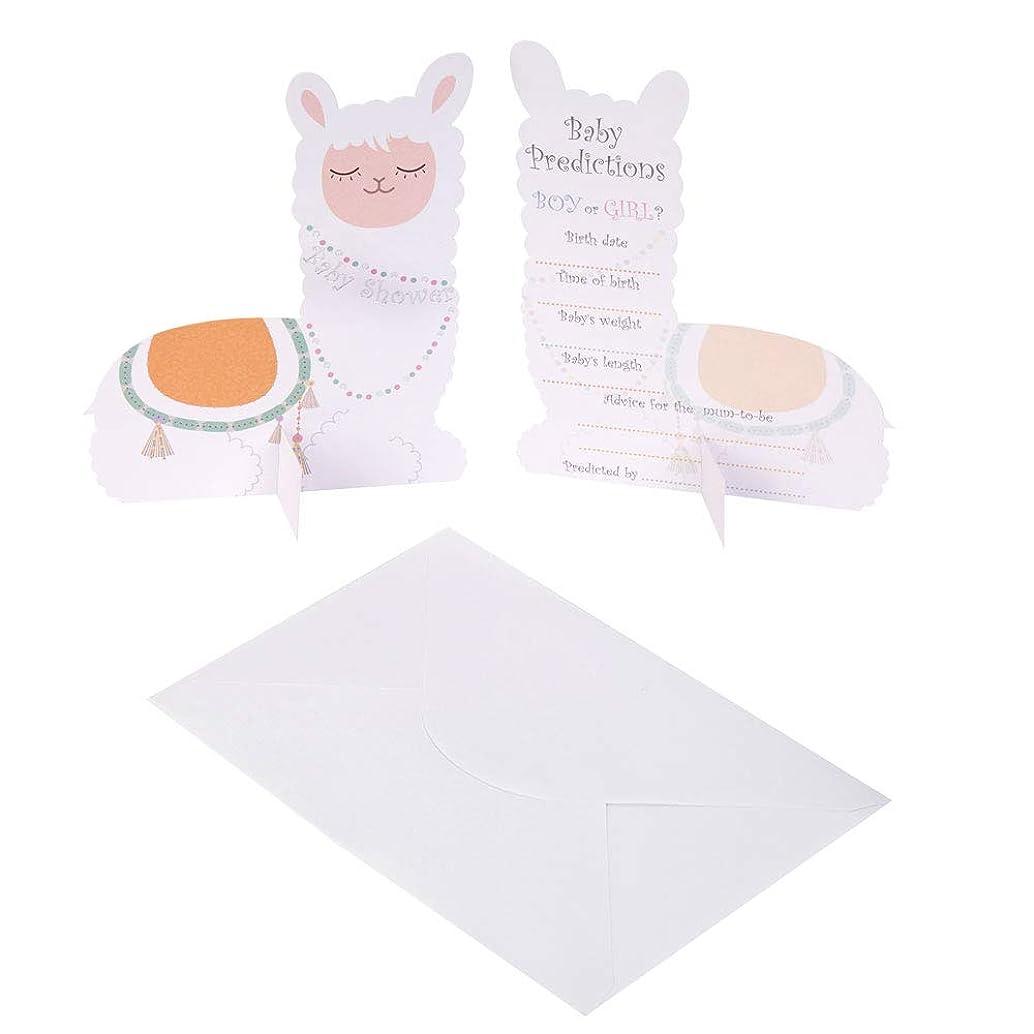 Neviti 776360 Llama Love Cards-10 Pack Baby Prediction Cards, Pastel Multi, 14.2 x 11.2 x 0.6