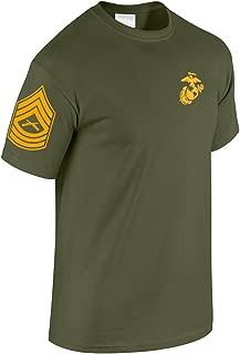 US Marine Corps Master Sergeant T-Shirt w/Chevron on Sleeve
